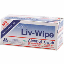 Livingstone Mini Liv-Wipe 100 Alcohol Swab Wipes