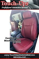 2015 2018 Ford F 150 Xlt Supercrew Crew Cab Leather Seat Covers Kit Cardinal Red