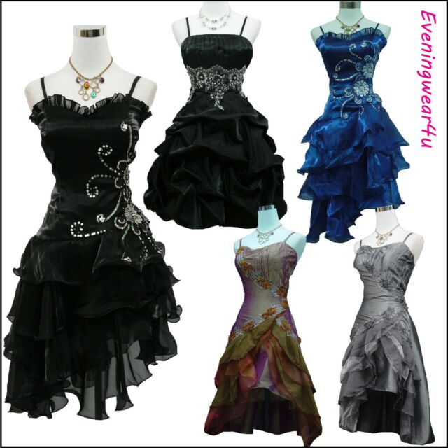 Cherlone Satin Cocktailkleid Party Ballkleid Abendkleid Brautjungfer Kleid