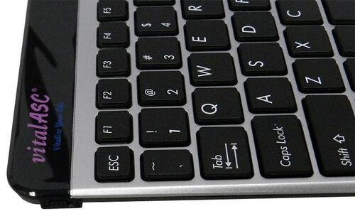 S vitalASC 10KA For iPad Windows Android Slim Bluetooth Keyboard Rechargeable