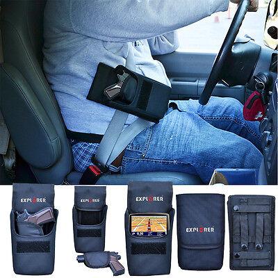 Car Gun Holster Seat Belt Concealed Handgun Pistol Vehicle Holder Mount Fits