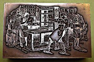 """Actif """"an Early Print Shop"""" Cliché D'impression.-afficher Le Titre D'origine Soyez Astucieux Dans Les Questions D'Argent"""