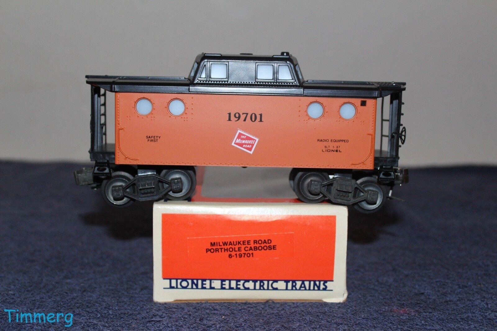 Lionel Trains 6-19701 Milwaukee Road Porthole Caboose O Gauge MIB