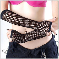 Arrival Neon Fishnet Fingerless Long Gloves Leg Arm Cuff Goth Punk Masque