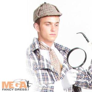 Sherlock Holmes Costume Accessorio Set Cappello Deerstalker Cappello lente di ingrandimento V