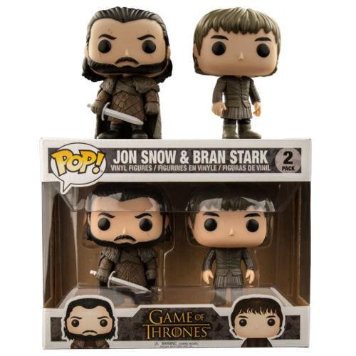 1GAME di Troni Jon Snow & Crusca Stark 9.5cm Pop Confezione da 2 Vinile