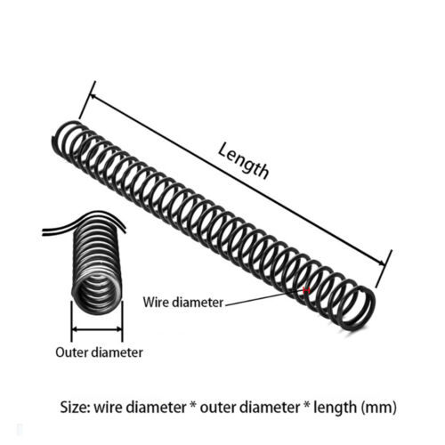 65Mn Steel Tension Expanding Spring Compression Spring Dia.1.6-2mm L:305mm