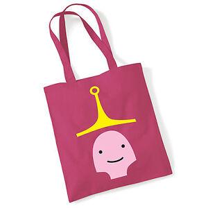 aa11a5e879 Details about Princess Bubblegum Adventure Time Jake Pink Cotton Tote  Shopper Shoulder length