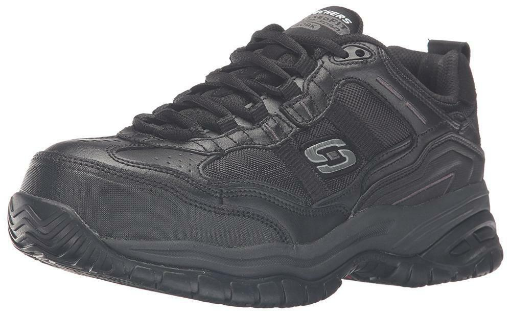 Skechers Hombre Trabajo Relaxed Fit Soft Stride Grinnel, Negro - 11 4E Comp nos