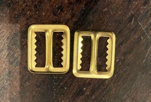 2pcs Brass Bronze Gold Metal Rectangle Tri Belt Buckle 20mm 2mm Braces