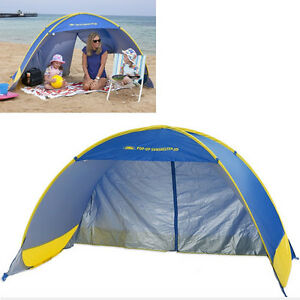 Image is loading SMART-SHADE-2-3x1-3m-POP-UP-BEACH-  sc 1 st  eBay & SMART SHADE 2.3x1.3m POP UP BEACH TENT Sun Shade UV Shelter Flip ...