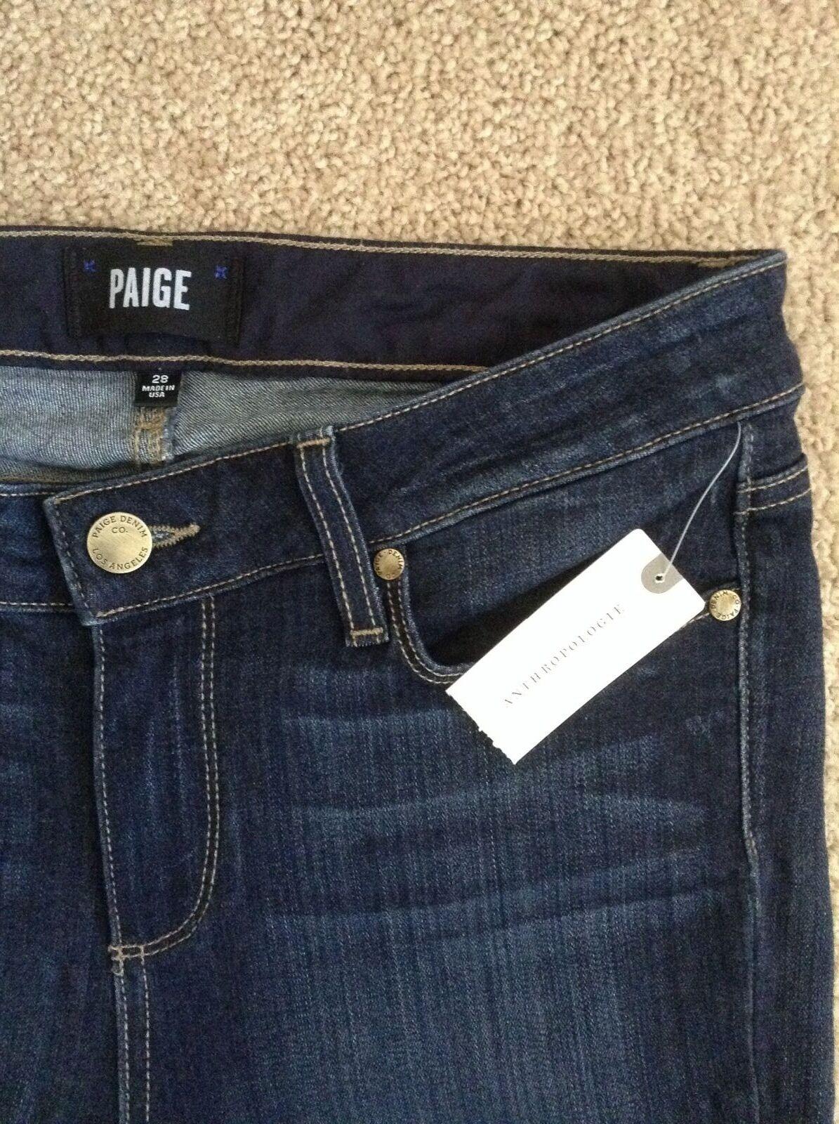 NEW PAIGE  189 Skyline 'Transcend' Crop Mid-Rise Skinny JeansZora Wash28 Waist
