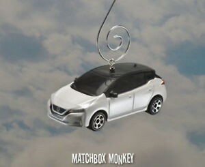 Image Is Loading 2018 White Nissan Leaf Custom Christmas Ornament Electric