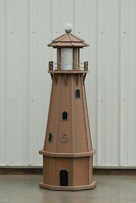 """39/"""" Octagon Electric and Solar Powered Cedar Lighthouse"""