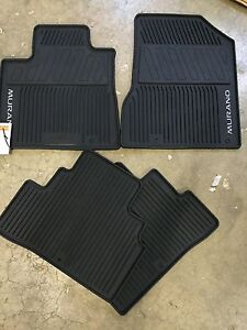 New Oem Nissan Murano 2015 2017 All Weather Rubber Floor