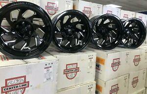 20x12 Black Centerline wheels 847BM 6x135 6x5.5 chevy silverado ford f150 SET