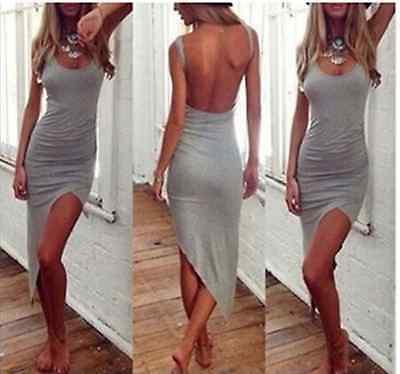 Sexy Women Sleeveless Bandage Bodycon Evening Party Cocktail Long Maxi Dress