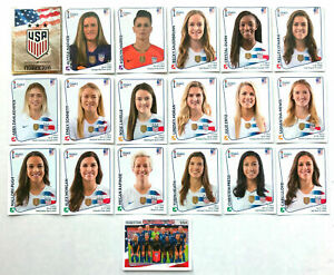 SET 2019 UNITED STATES USA Soccer Panini Sticker Womens World Cup Lavelle Morgan