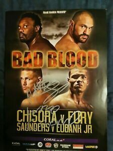 Billy-Joe-Saunders-Hand-Signed-WBO-Champion-Boxing-Programme-Autograph-RARE-ITEM