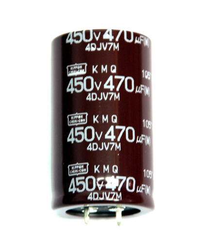 105℃ 30x50 Snap-Ins Nippon Chemi-Con 2pc Electrolytic Capacitor KMQ 470uF 450V