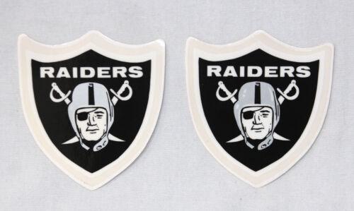 Set of 2 Rare Original Thin Mil Oakland Raiders Football Helmet Decal from 1970s