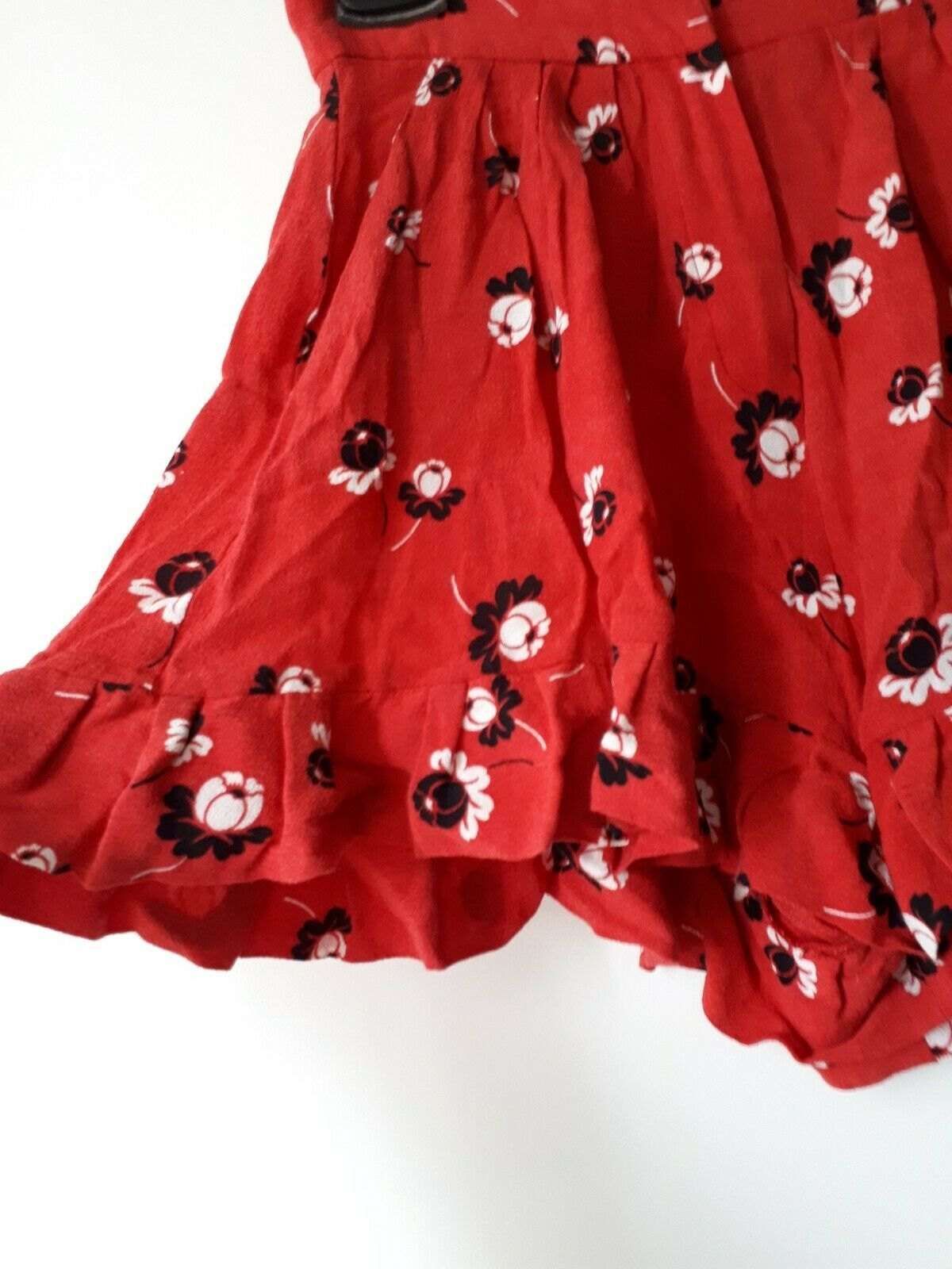 Very RARE rosso nero bianca maje FLORAL shorts bermuda trousers trousers trousers with ruffles 3f794f