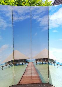 Foto-Paravent-Raumteiler-Spanische-Wand-Hoehe-1-80m-Breite-1-60m-TOP