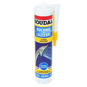 SOUDAL-Sanitaer-Silikon-Silicon-Fugen-Abdichtung-Abdichten-280-ml-Dichtstoff