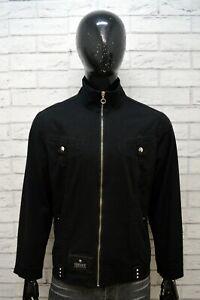 VERSACE-JEANS-COUTURE-Uomo-L-Giacca-Giubbotto-Nero-Giubbino-Jacket-Man-Black-Zip
