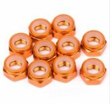 Aluminum Locknut M5 Orange (10pcs) TMAXX EMAXX Wheel Nuts Baja 5b Hardware