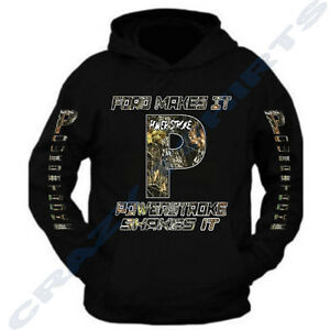 New Powerstroke Camo Hoodie Black Diesel Power Ford Truck