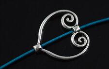 Wholesale Freeship 30pcs Tibet  Silver Style Heart Shape Charms Findings 20*19mm