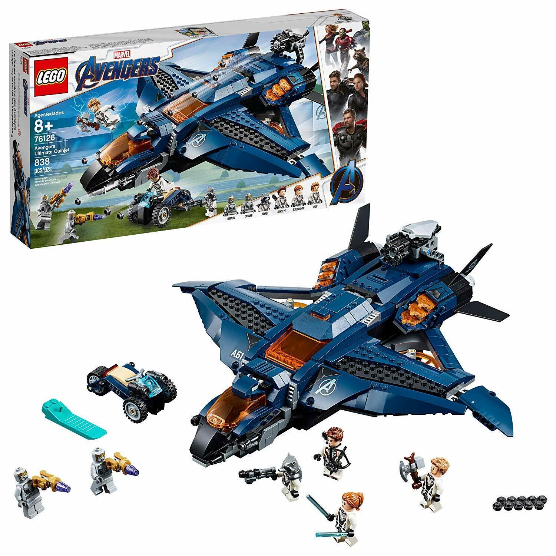 Lego Marvel Los Vengadores Tacho 76126 Ultimate Quinjet Thor cohete 2019 Nuevo