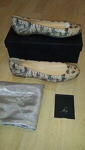 Serpent Giuseppe Cuir Ballerine E26057 Valeur Zanotti Authentique 330 BZEqOc