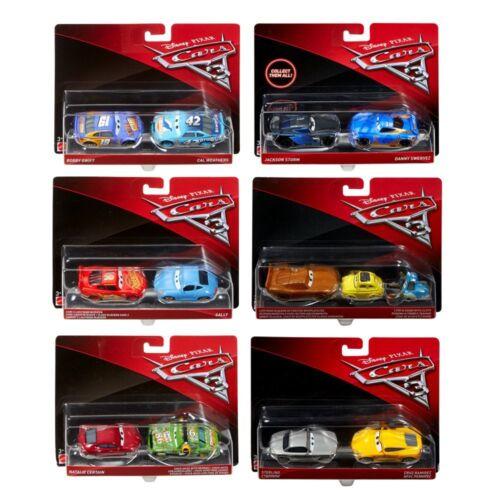 Doppelpack Modelle AuswahlDisney Cars 3Cast 1:55 Fahrzeuge AutoMattel