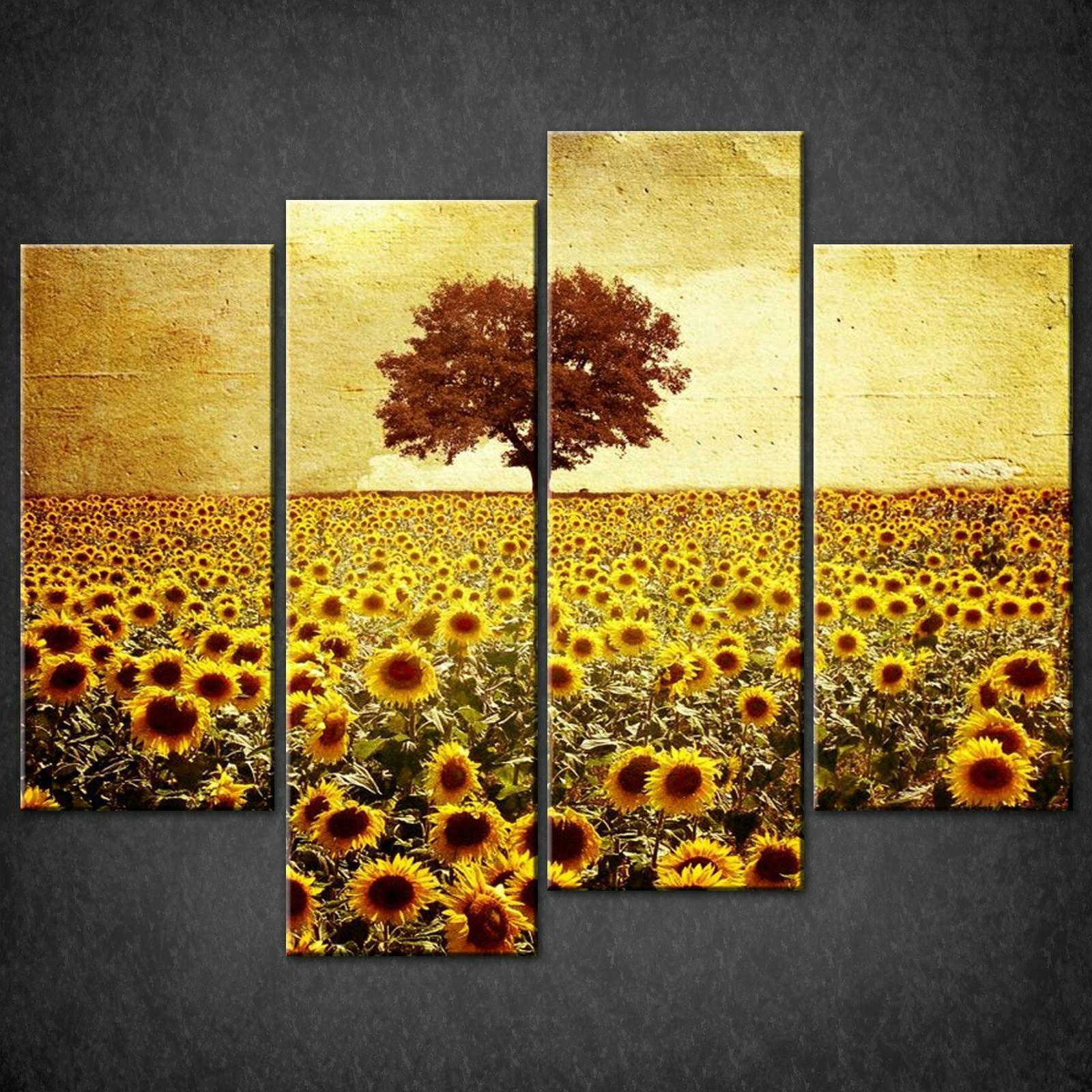 SUNFLOWERS FIELD CANVAS PRINT PICTURE WALL ART FREE UK POSTAGE VARIETY OF GrößeS