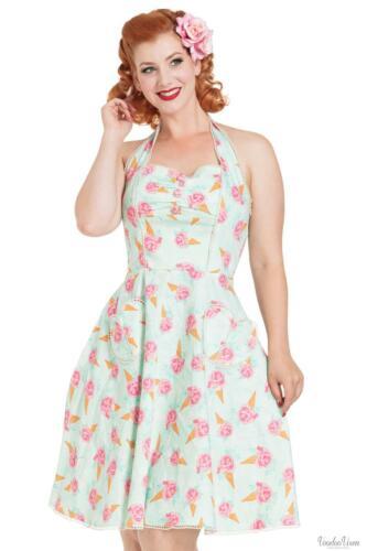 1950s Vintage Retro 1940s Voodoo Vixen Abigail Ice Cream Halter Dress 1930s