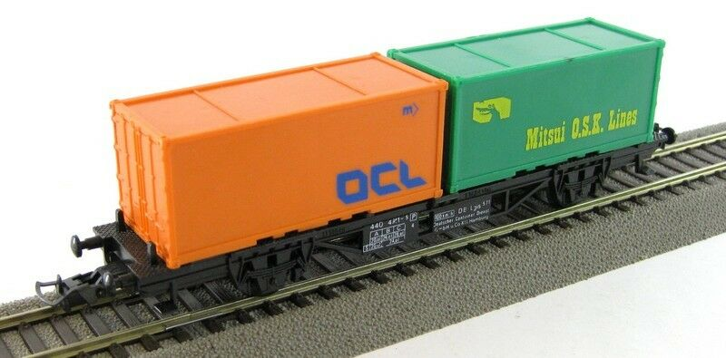 Faller AMS 444 H0 Güterwagen Containerwagen OCL Mitsui O.S.K. Lines X00001-00961