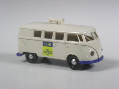 TOP Brekina VW T1 Wahlmobil FDP die Liberalen Parteiwerbung in den 50ern
