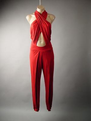Red Lace Strappy Evening Cocktail Party Dress Pant Suit 296 mvp Jumpsuit S M L