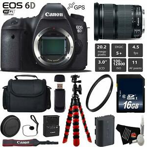 Canon EOS 6D DSLR Camera with 24-105mm is STM Lens + Wireless Remote Bundle