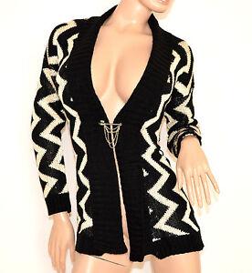 Cardigan-maglione-aperto-donna-nero-bianco-maglioncino-a-maniche-lunghe-lana-140