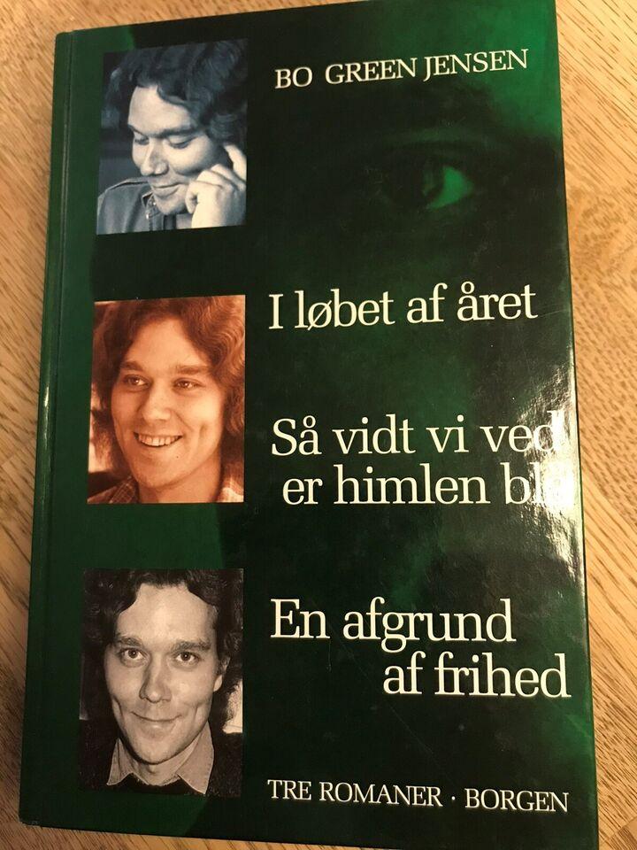 tre romaner i en, Bo Green Jensen, genre: roman