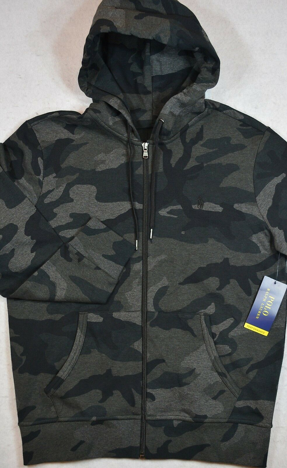 Polo Ralph Lauren Full Zip Grau grau Camo Performance Hoodie L NWT 125