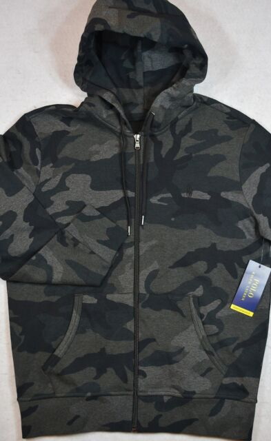 M Lauren Camo Full Hoodie Camouflage Ralph Grey Polo Zip Performance 8nN0wm