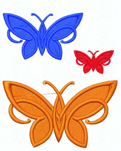 Simple Embroidered Butterfly Motif 3 Sizes Lots of Colour Choices Applique