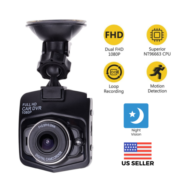 2.4'' Full HD 1080P Dash Cam Car Front and Rear DVR Camera Night Vision G-sensor