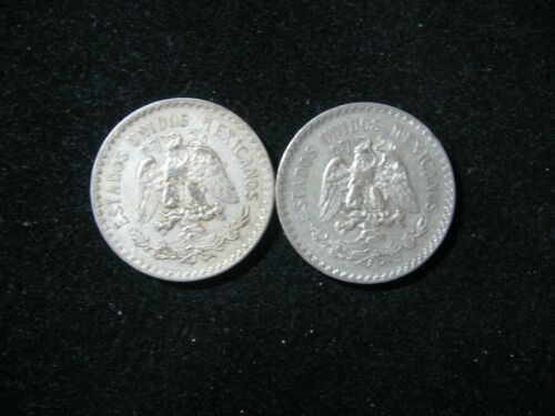 1923 MEXICO 2 PCS 1 PESO CAP /& RAYS ALL VF//XF  2 TOTAL COINS .720 SILVER
