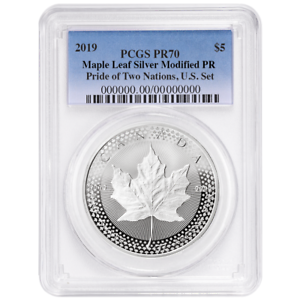 2019-Modified-Proof-5-Silver-Canadian-Maple-Leaf-PCGS-PR70-Pride-of-Two-Nations