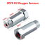 2 Pcs Straight M18X1.5 Car O2 Oxygen Sensors Extension Spacer Adapters Fix 55mm